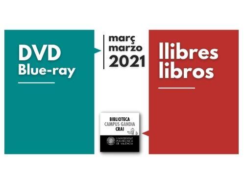 Monografies i vídeos març 2021