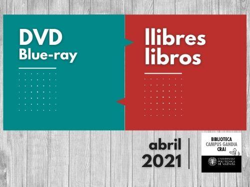 Monografies i vídeos abril 2021